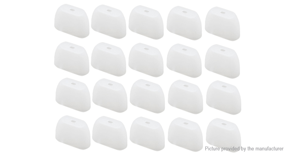 257 Silicone Disposable Drip Tip Cover Tester Mouthpiece 20Pack 20pack  155mm at