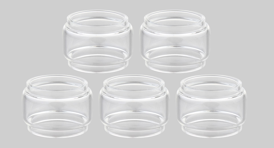 Replacement Glass Tank for GeekVape Cerberus Tank Clearomizer (5-Pack)
