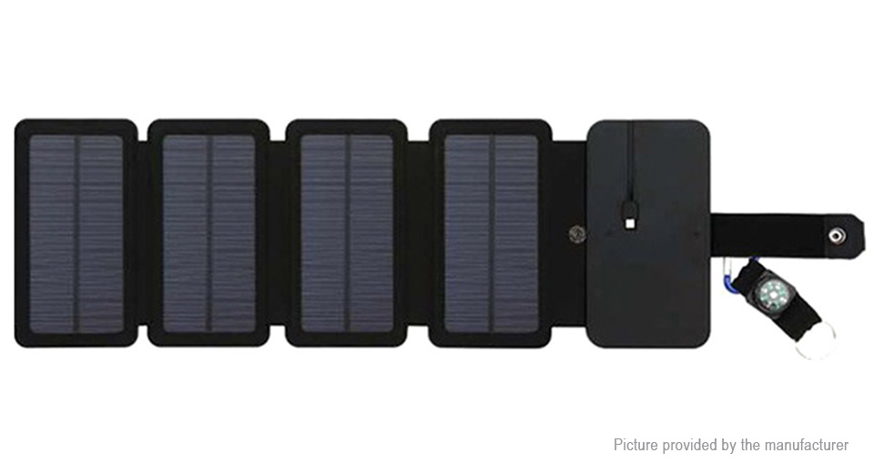 6W Outdoor Portable Folding Solar Power Charger Power Adapter