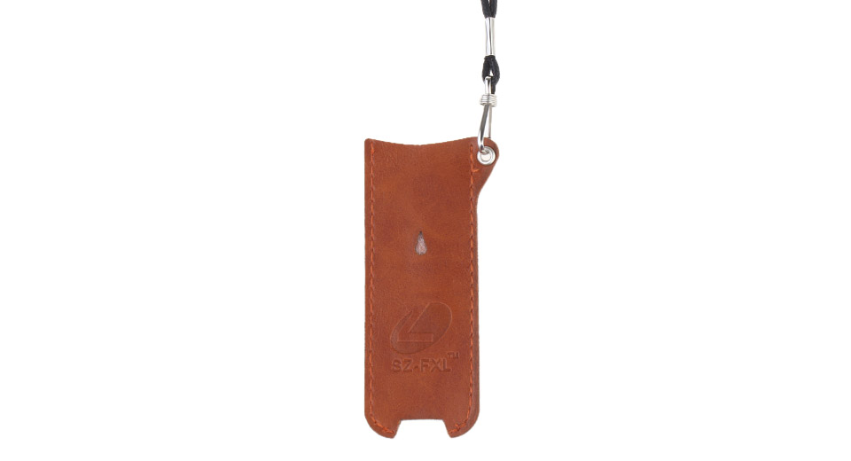 FXL PU Leather Carrying Pouch w/ Lanyard for E-Cigarettes