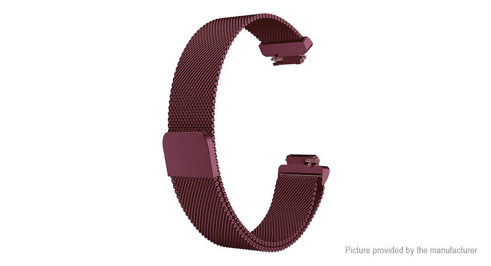 Replacement Stainless Steel Mesh Watchband Strap for Fitbit Inspire (Size L)