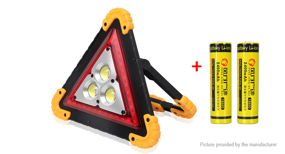 W838 Outdoor Portable Emergency Triangle LED Work Light Camping Lantern