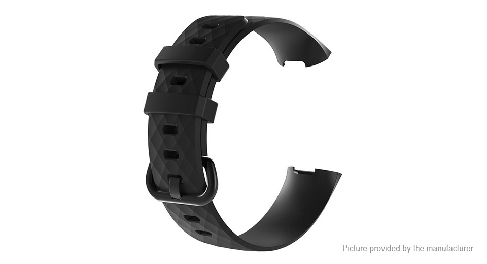 TPU Replacement Watchband Strap for Fitbit Charge 3 (Size S)