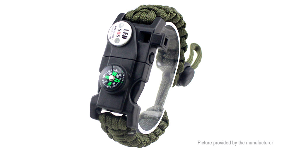 Multifunctional Outdoor Survival Emergency EDC Paracord Bracelet