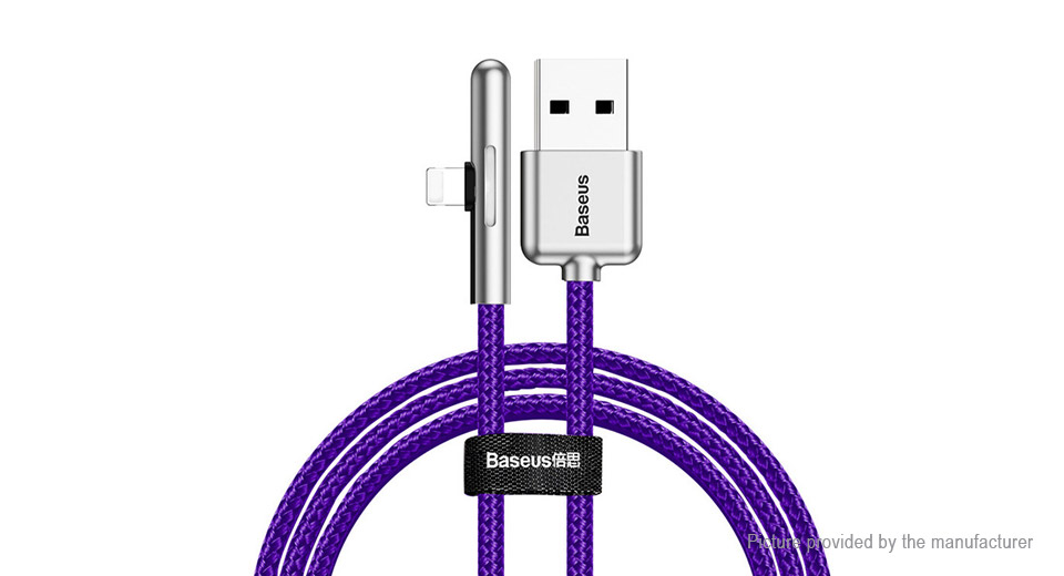 Authentic Baseus Iridescent Lamp 8-pin to USB 2.0 Data & Charging Cable (200cm)
