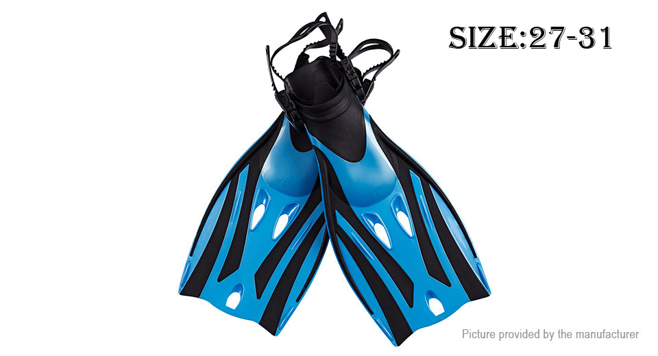 Full Foot Non-slip Adjustable Diving Fins (Size S/M)