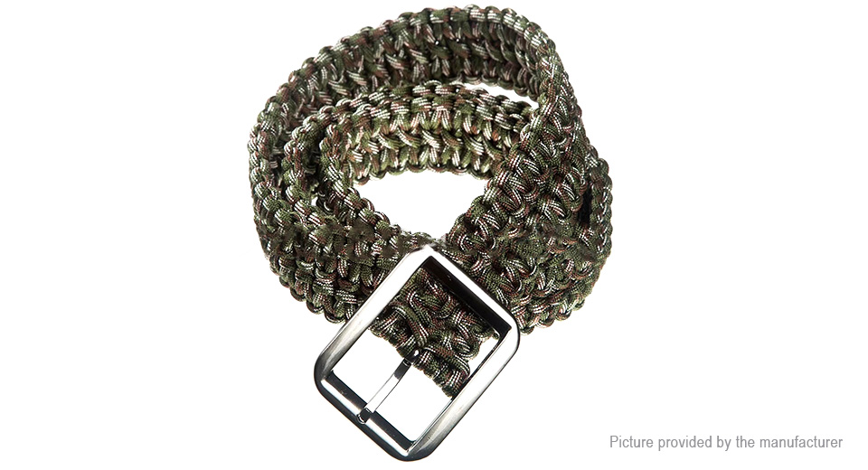 Outdoor Tactical Multifunctional Emergency Survival Braided Paracord Belt