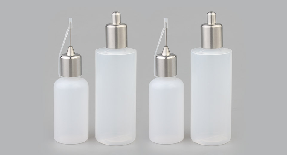 AOLVAPE Needle Refiller Bottle + Round Head Refiller Bottle (4 Pieces)