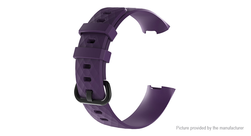 TPU Replacement Watchband Strap for Fitbit Charge 3 (Size L)