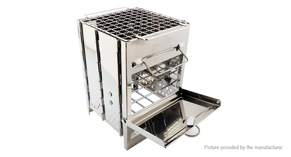 Outdoor Camping Folding Stainless Steel Wood Stove