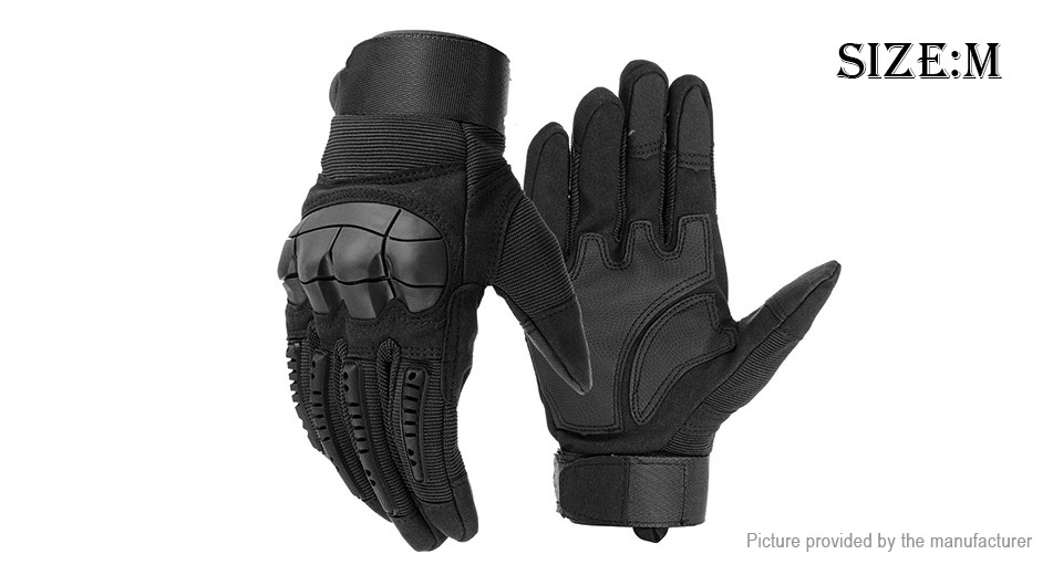 Outdoor Cycling Motorcycle Touch Screen Full Finger Gloves (Size M/Pair)