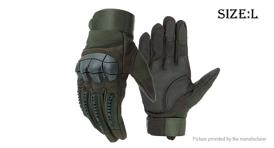 Outdoor Cycling Motorcycle Touch Screen Full Finger Gloves (Size L/Pair)