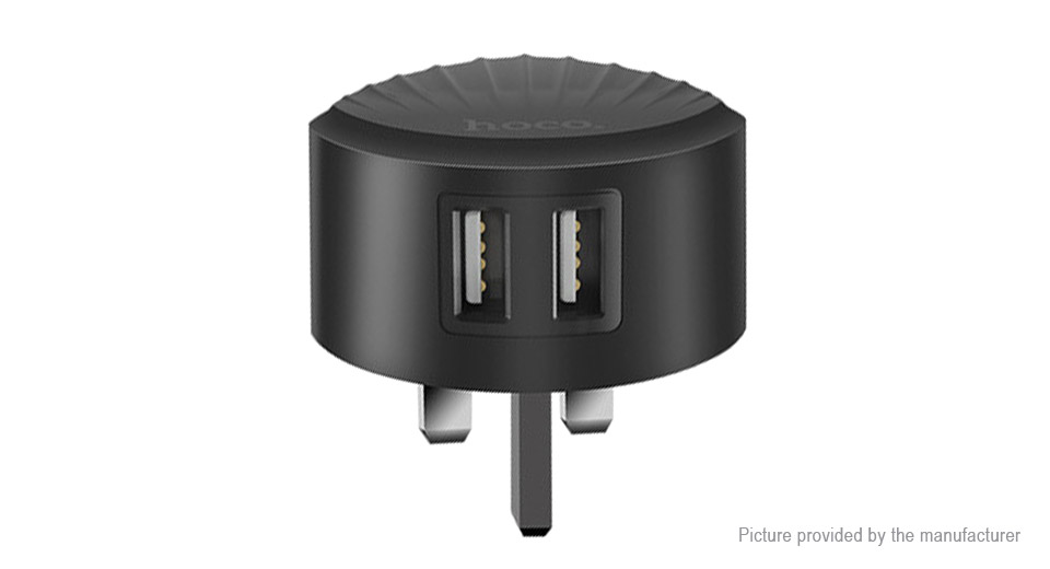 Authentic hoco C67 Dual USB Wall Charger Power Adapter (UK)