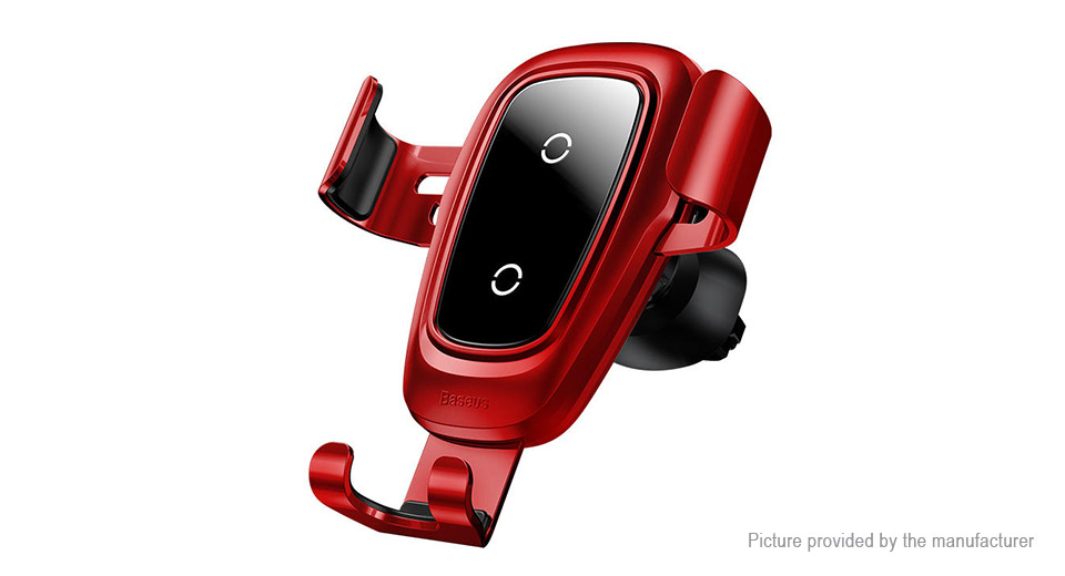 Authentic Baseus Car Air Vent Mount Gravity Linkage Cell Phone Holder Wireless Charger