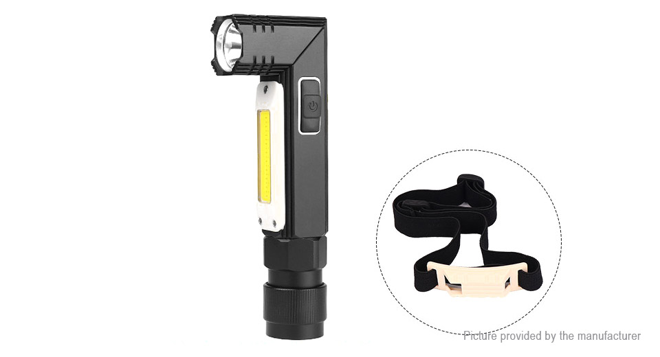 USB Rechargeable Folding LED Flashlight COB Work Light (Size S)