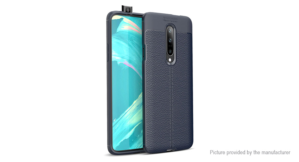 Lychee Texture TPU Protective Back Case Cover for OnePlus 7 Pro