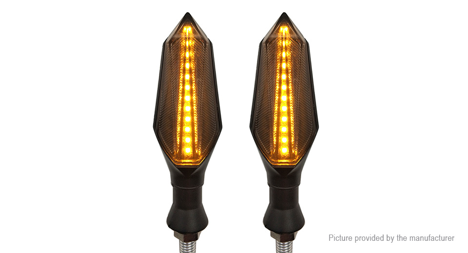 DIY Double-sided Motorcycle LED Turn Signal Light Flashing Warning Lamp (Pair)
