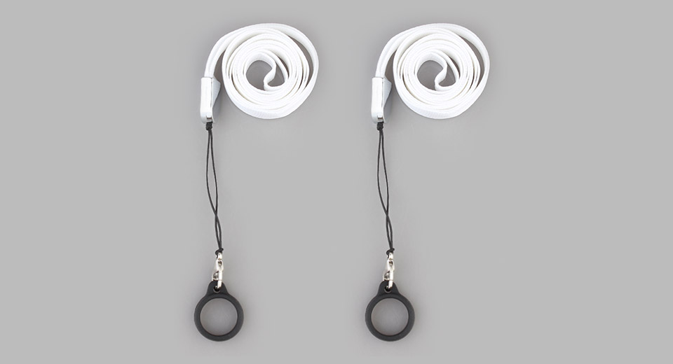 Nylon + Metal + Silicone Lanyard w/ Ring for E-Cigarettes (2-Pack)