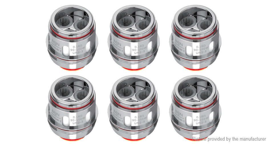 Authentic Uwell Valyrian 2 II Replacement UN2-3 Triple Meshed Coil Head (6-Pack)