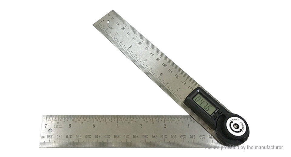 Stainless Steel Digital Angle Finder Ruler Protractor