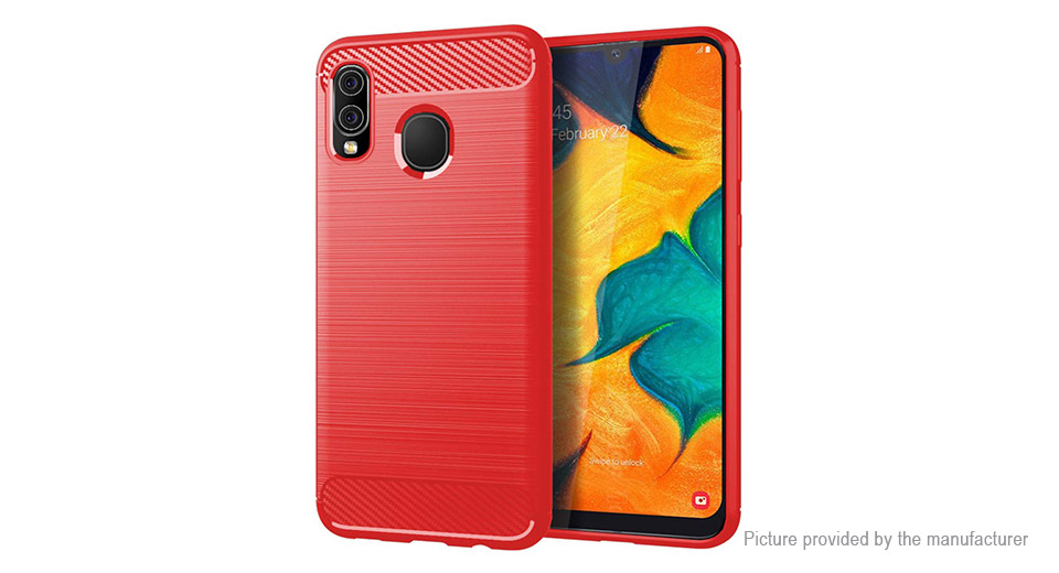 TPU Brushed Protective Back Case Cover for Samsung Galaxy A30