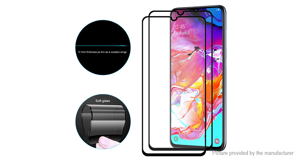 Hat.Prince Soft Tempered Glass Screen Protector for Samsung Galaxy A70 (2-Pack)