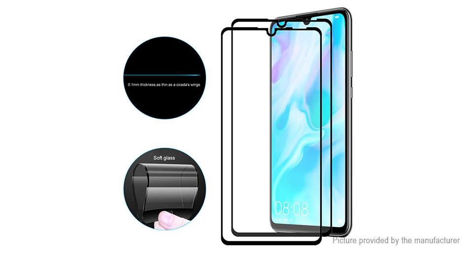 Hat.Prince Soft Tempered Glass Screen Protector for Huawei P30 Lite (2-Pack)