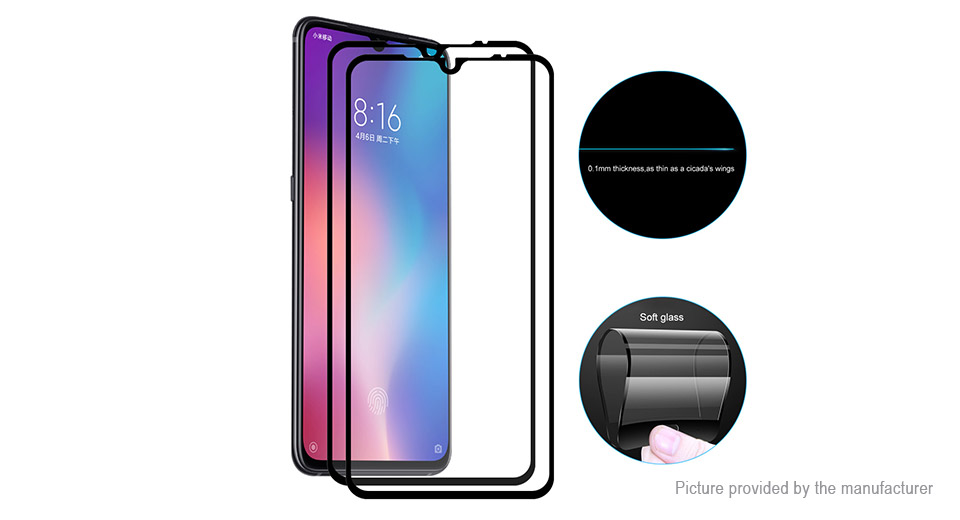 Hat.Prince Soft Tempered Glass Screen Protector for Xiaomi Mi 9 (2-Pack)