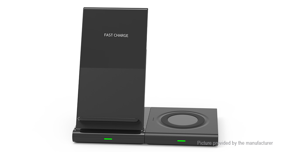 2-in-1 Qi Inductive Wireless Charger for Smartphones / Samsung Smart Watch