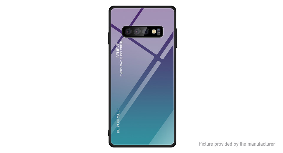 Gradient Color Tempered Glass Protective Case Cover for Samsung Galaxy S10e