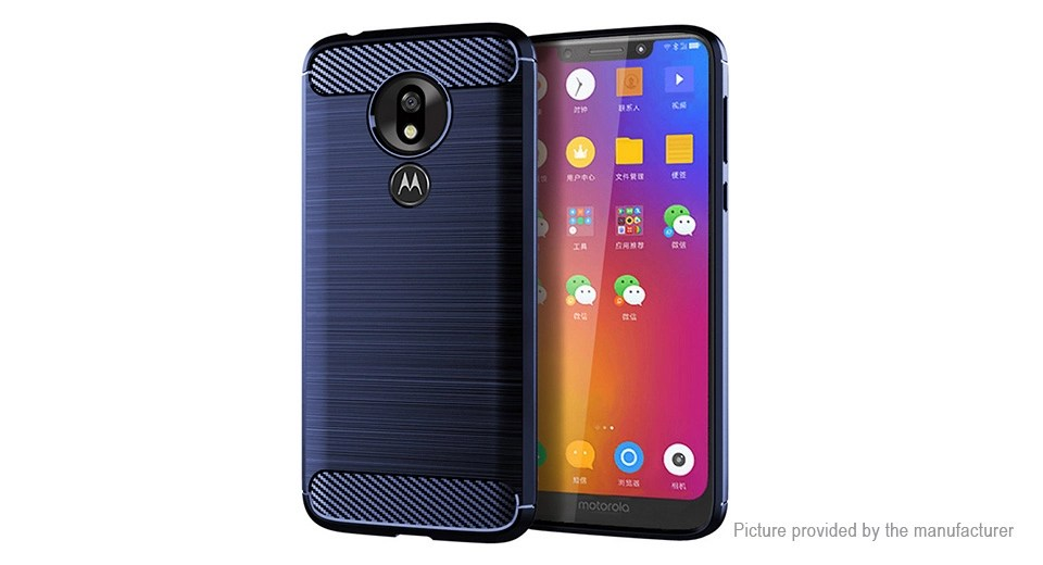 TPU Brushed Protective Back Case Cover for Motorola Moto G7 Play