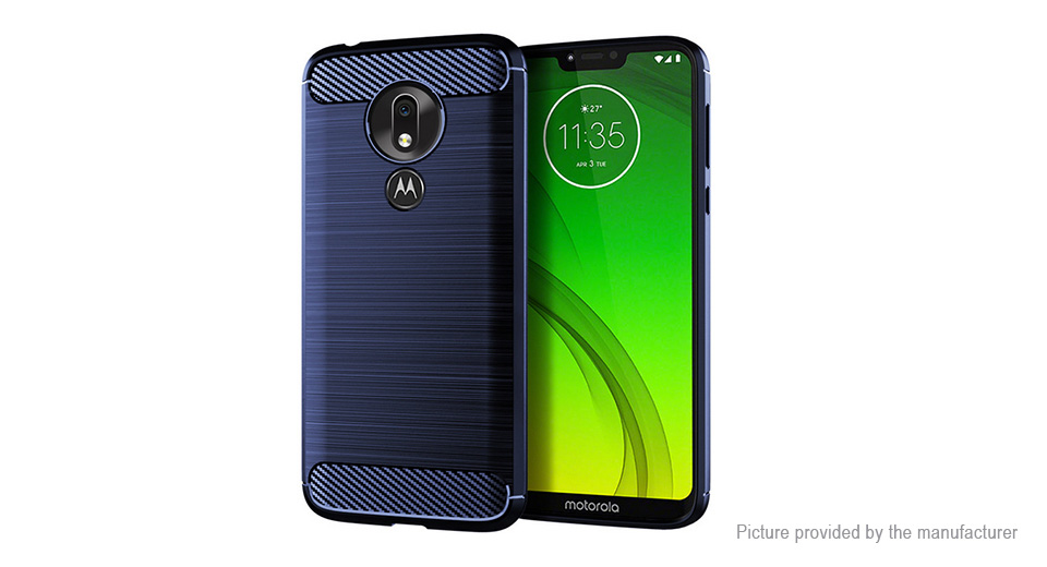 TPU Brushed Protective Back Case Cover for Motorola Moto G7 Power