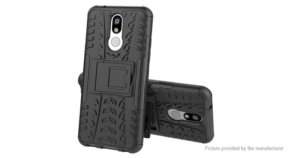 Rugged Dual Layer Armor Case Protective Back Cover for LG K40/K12+