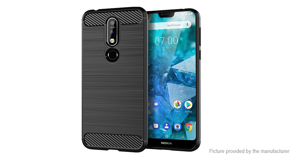 TPU Brushed Protective Back Case Cover for Nokia 7.1