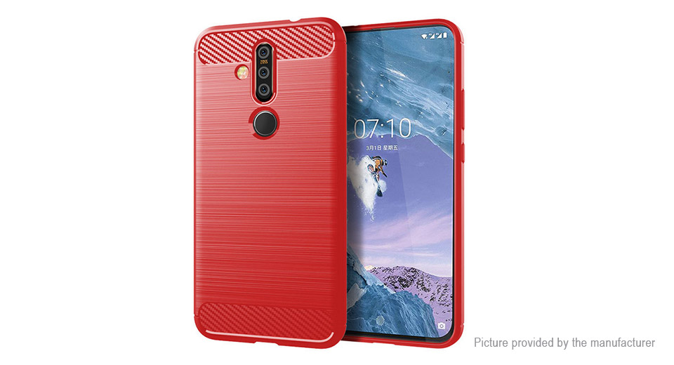 TPU Brushed Protective Back Case Cover for Nokia X71