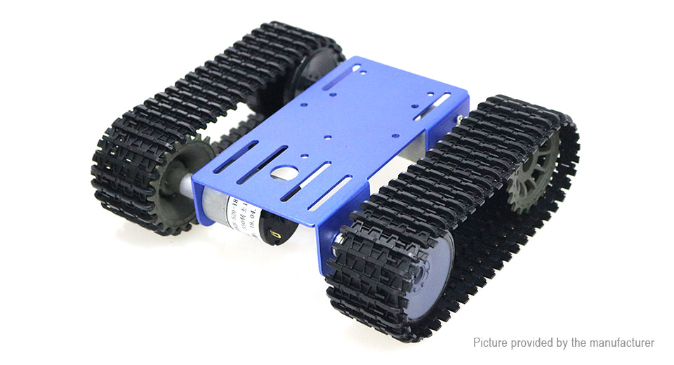 DOIT.AM TP101 DIY Smart Robot Tank Chassis R/C Tracked Car Kit for Arduino