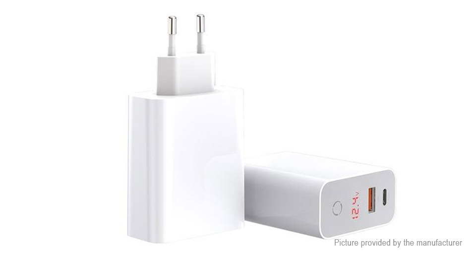 Authentic Baseus USB/USB-C Wall Charger Travel Power Adapter (EU)