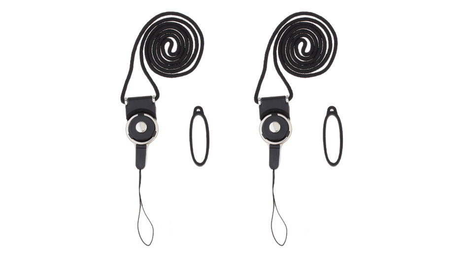 FXL Silicone + Plastic + Nylon Lanyard w/ Ring for E-Cigarettes (2-Pack)
