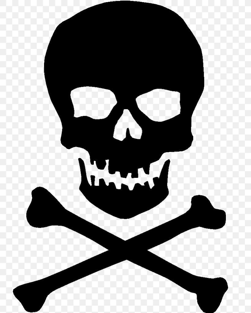 Skull And Crossbones Clip Art Free : skull, crossbones, Skull, Bones, Crossbones, Human, Symbolism, 735x1024px,, Bones,