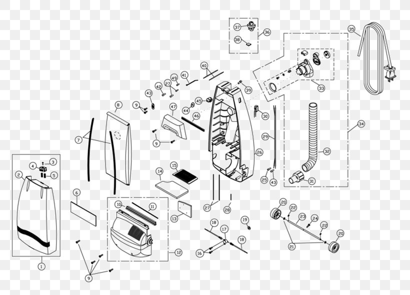 Vacuum Cleaner Wiring Diagram Schematic Miele, PNG