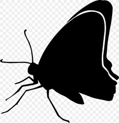15 / Black Butterfly Clip Art Silhouette Image PNG 2178x2248px Butterfly Arthropod Black Black White M Blackandwhite