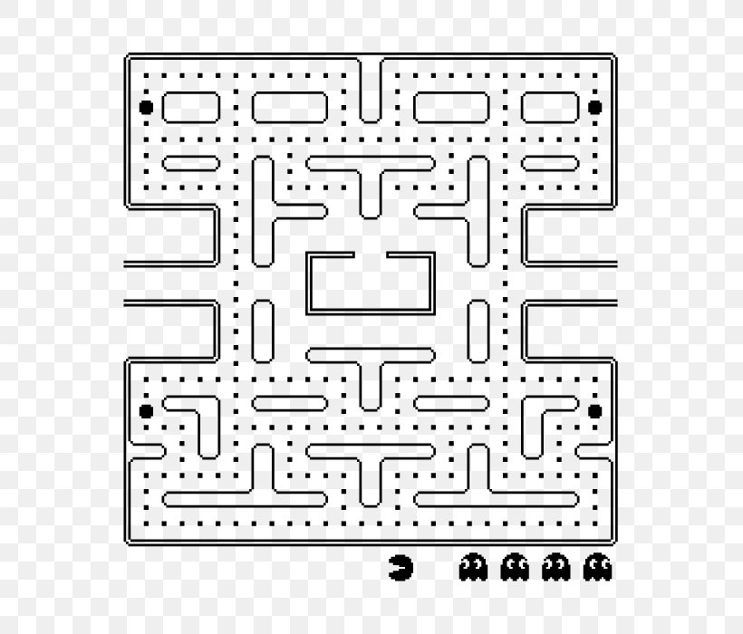 Pac-Man Party Maze Video Game Coloring Book, PNG