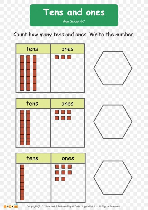 small resolution of Mathematics First Grade Worksheet Numerical Digit Mathematical Problem
