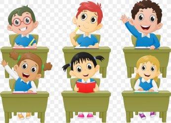cartoon classroom student lesson children class vector child favpng