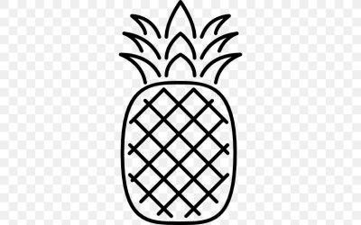 Pineapple Outline PNG 512x512px Food Black And White Kiwifruit Leaf Line Art Download Free