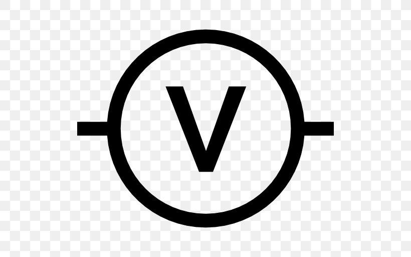 Voltmeter Wiring Diagram Symbol, PNG, 512x512px, Voltmeter
