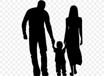 People Silhouette PNG 480x600px Silhouette Blackandwhite Child Family Family Pictures Download Free