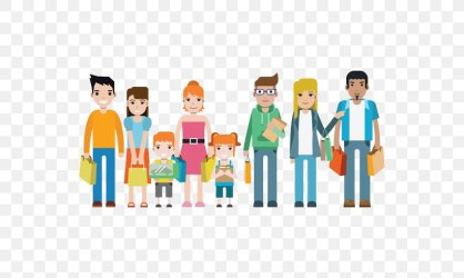 Family Shopping Art Illustration PNG 700x490px Family Art Cartoon Child Concept Download Free