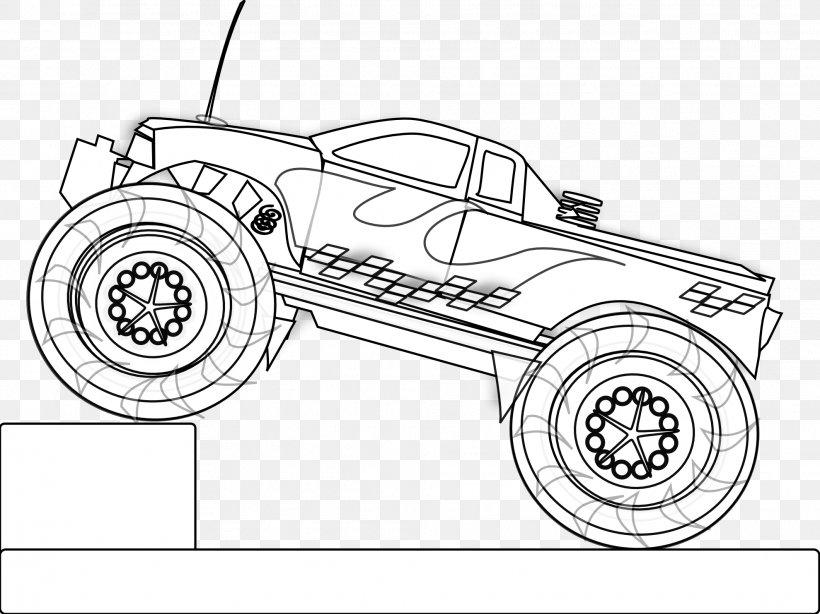 Car Monster Truck Pickup Truck Coloring Book, PNG