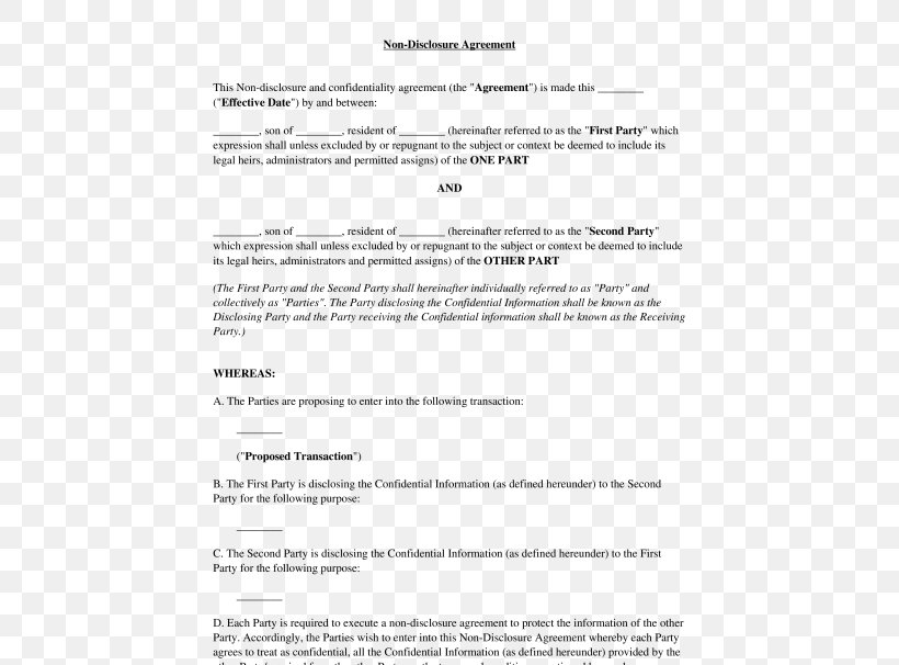 This type of agreement is common in workplaces when a company is fearful that an employee may leave and work for a competitor and share the trade … Document Non Disclosure Agreement Template Confidentiality Microsoft Word Png 532x606px Document Area Confidentiality Contract Diagram Download